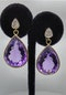 Beautiful Amethyst Pear Drop Earrings - image 3