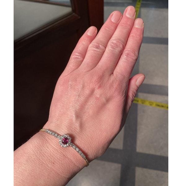 Date: circa 1905, 18ct Yellow Gold & Platinum, Ruby & Diamond stone set Bracelet, SHAPIRO & Co since1979 - image 4