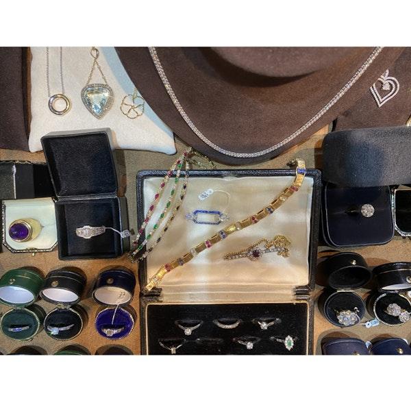 Date: circa 1905, 18ct Yellow Gold & Platinum, Ruby & Diamond stone set Bracelet, SHAPIRO & Co since1979 - image 8