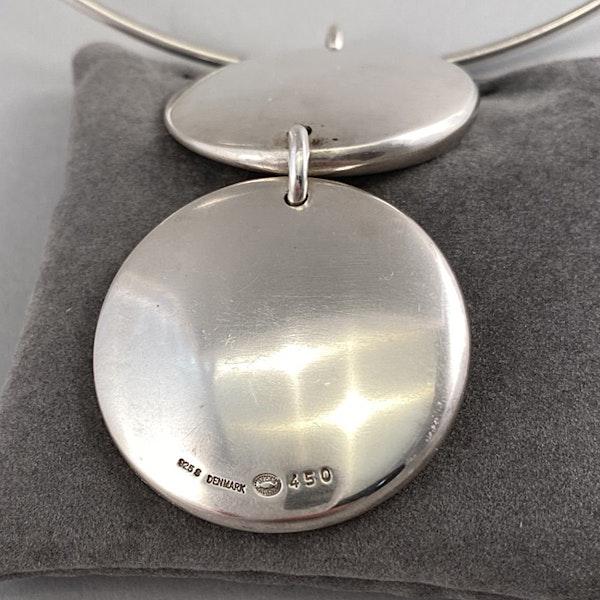 Date:2004, Georg Jensen, Silver Pendant Necklace, Design Name:ZERO ,SHAPIRO & Co since1979 - image 4