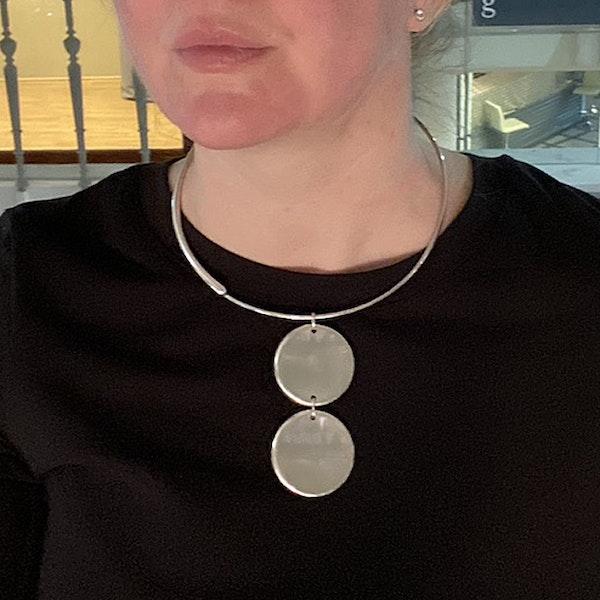 Date:2004, Georg Jensen, Silver Pendant Necklace, Design Name:ZERO ,SHAPIRO & Co since1979 - image 2
