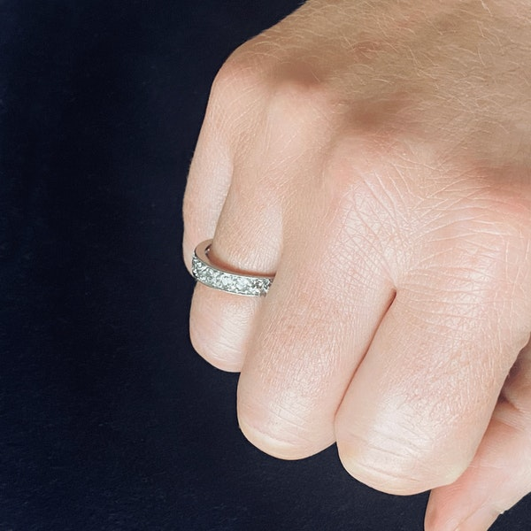 A Diamond Platinum Eternity Ring - image 3