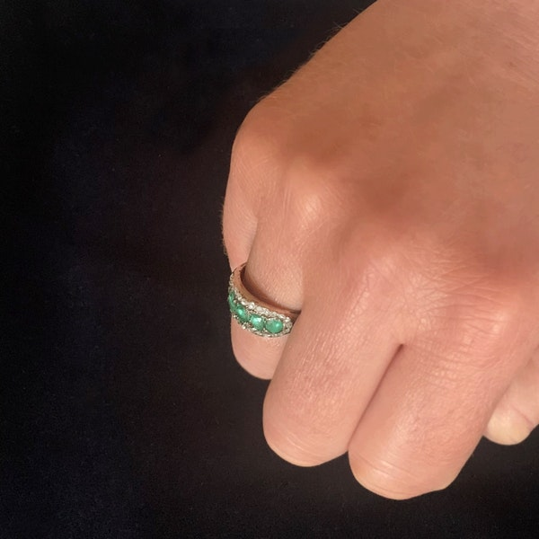 A Georgian Emerald Gold Ring - image 4