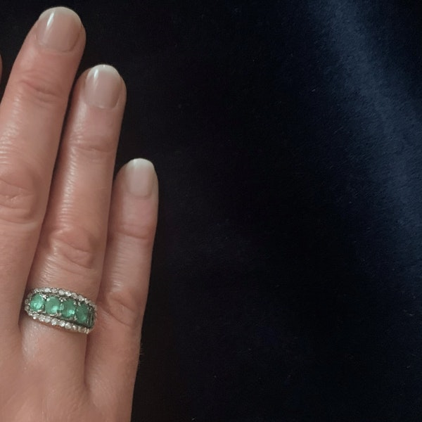 A Georgian Emerald Gold Ring - image 5