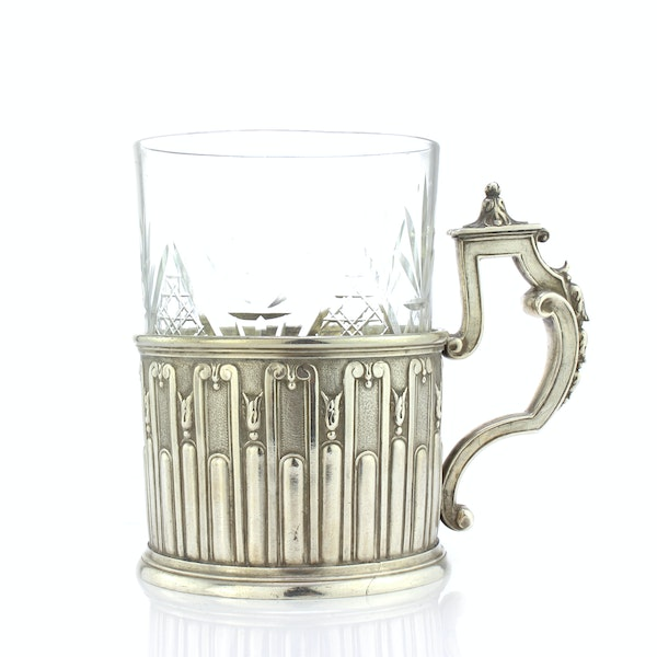 Faberge silver tea glass holder, Moscow, c.1890 - image 1