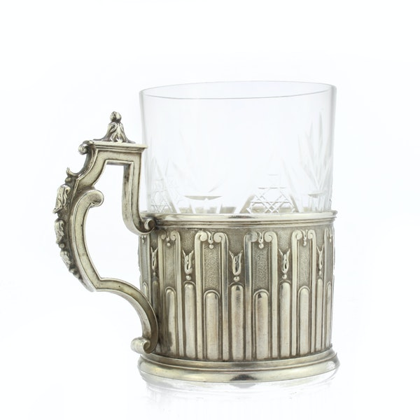 Faberge silver tea glass holder, Moscow, c.1890 - image 2
