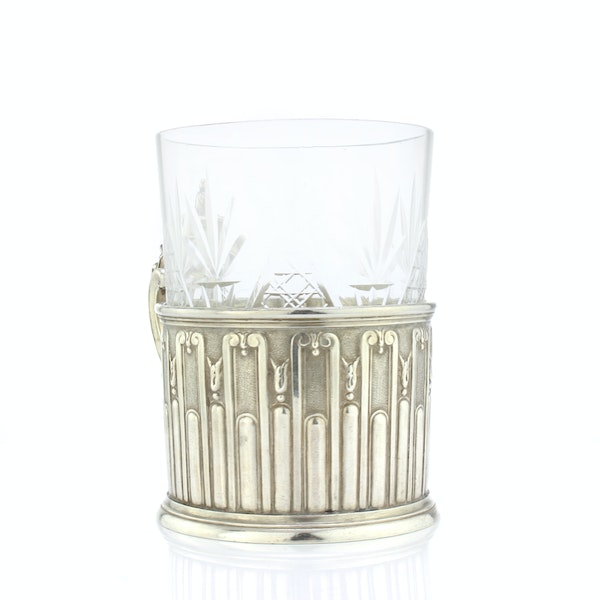Faberge silver tea glass holder, Moscow, c.1890 - image 3