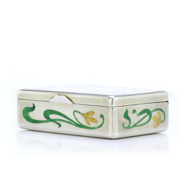 Russian silver and enamel Art Nouveau snuff box by Khlebnikov, Moscow c.1900 - image 6