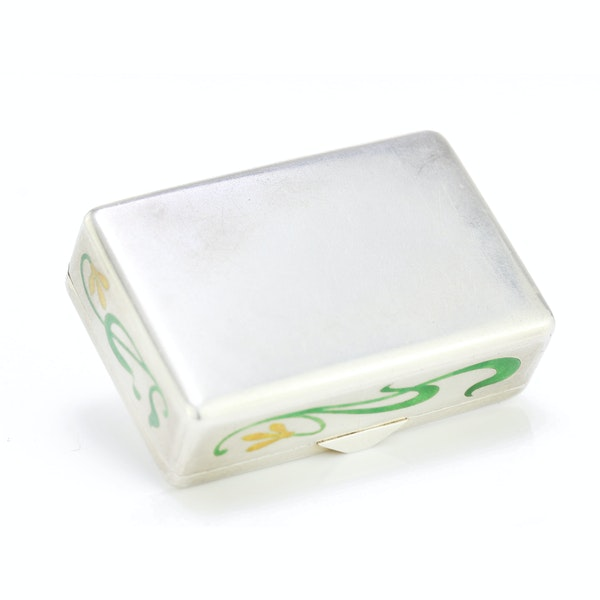 Russian silver and enamel Art Nouveau snuff box by Khlebnikov, Moscow c.1900 - image 3