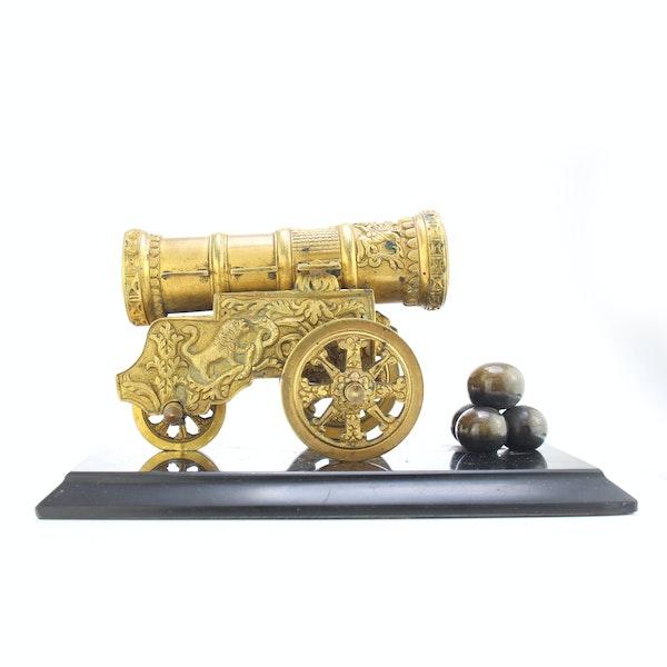 """Russian gild bronze model of cannon """"Tsar Cannon"""" a private bronze foundry c.1880 - image 3"""