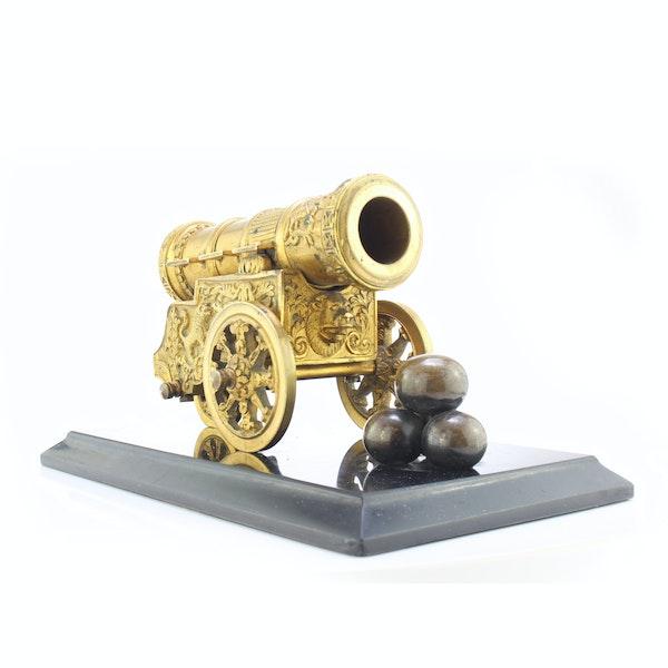 """Russian gild bronze model of cannon """"Tsar Cannon"""" a private bronze foundry c.1880 - image 4"""
