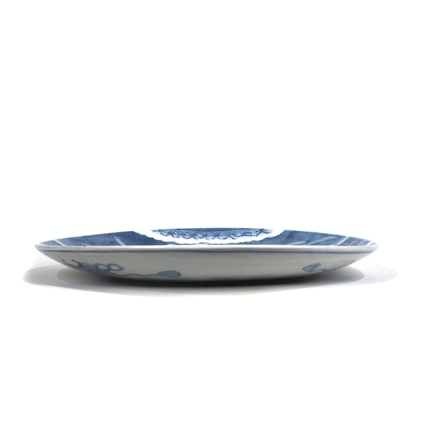 Japanese blue and white rabbit plate - image 3