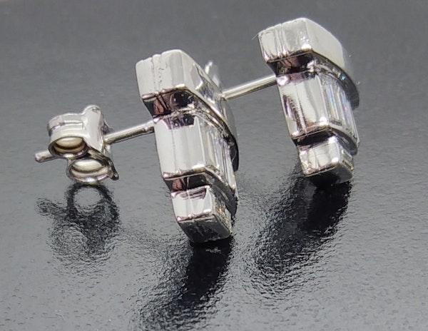 Diamond Baguette Cut Ear Studs. - image 2