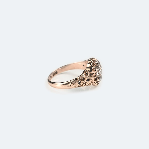 A Victorian Gold Diamond Cluster Ring - image 3
