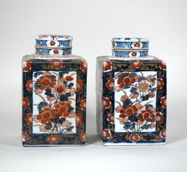Pair Japanese Imari Tea jars - image 5