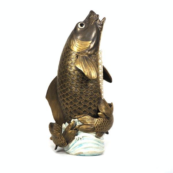 Japanese Satsuma fish vase - image 3