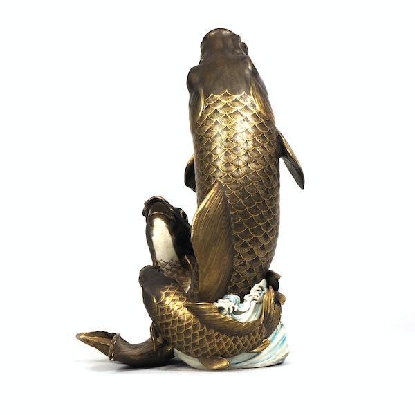 Japanese Satsuma fish vase - image 4