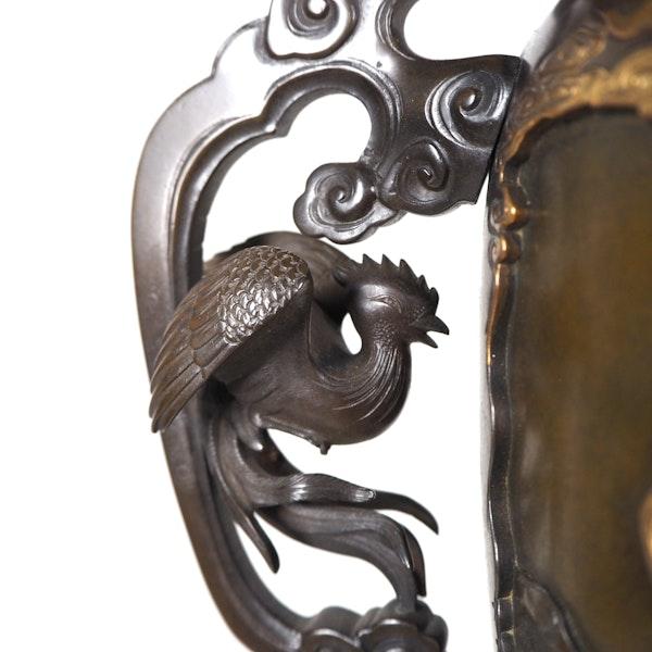 Japanese Bronze Usubata Vase - image 6