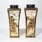 Pair Japanese Satsuma square vases - image 2