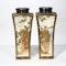 Pair Japanese Satsuma square vases - image 4