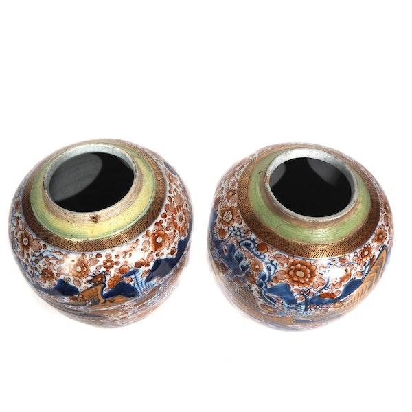 Pair Chinese clobbered ginger jars - image 5