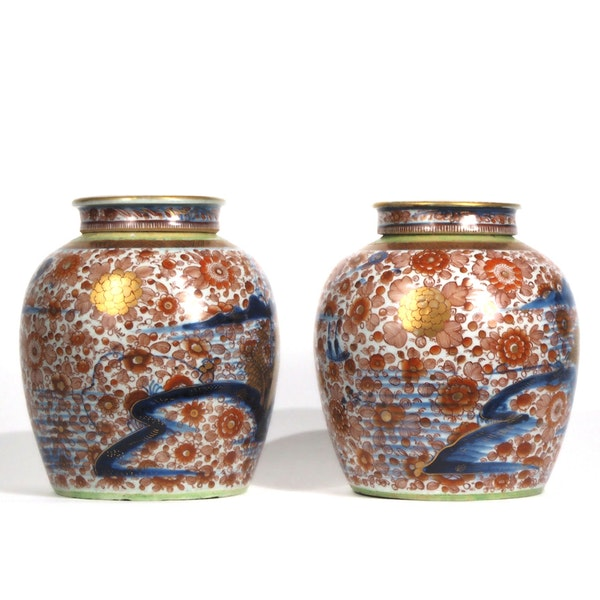 Pair Chinese clobbered ginger jars - image 2