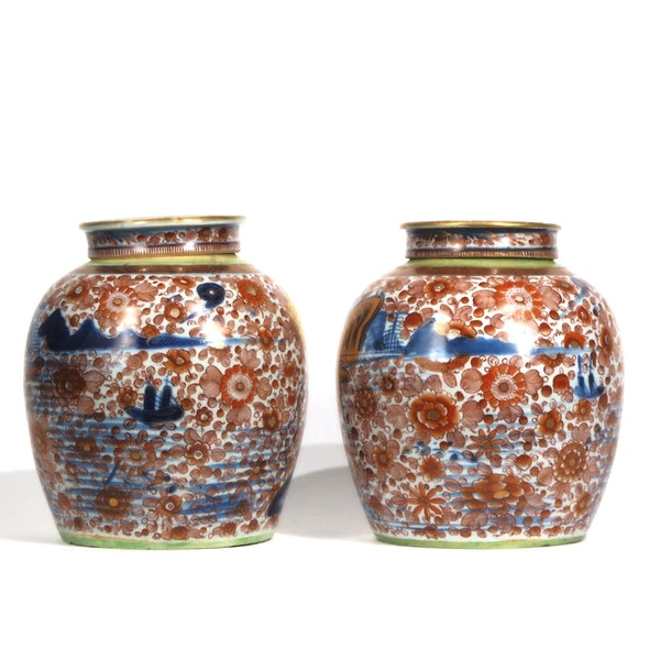 Pair Chinese clobbered ginger jars - image 3