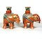 Pair of Chinese elephant candle holders - image 2