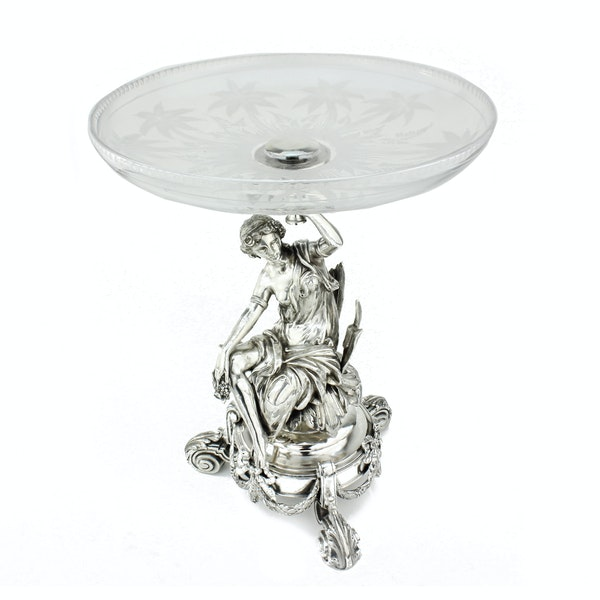 19c French silver and cut glass centrepiece, France c.1880 - image 3