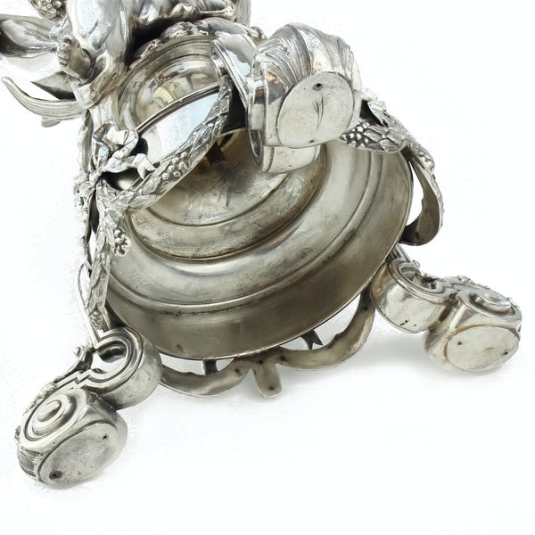 19c French silver and cut glass centrepiece, France c.1880 - image 4