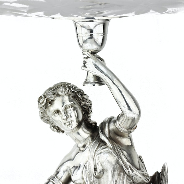 19c French silver and cut glass centrepiece, France c.1880 - image 5