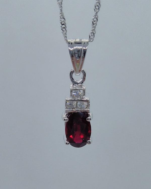 Ruby Diamond Pendant - image 4