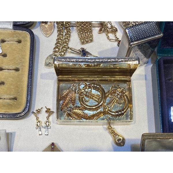 Date: circa 1960, 18ct Yellow Gold, Diamond stone set clip Earrings, SHAPIRO & Co since1979 - image 8