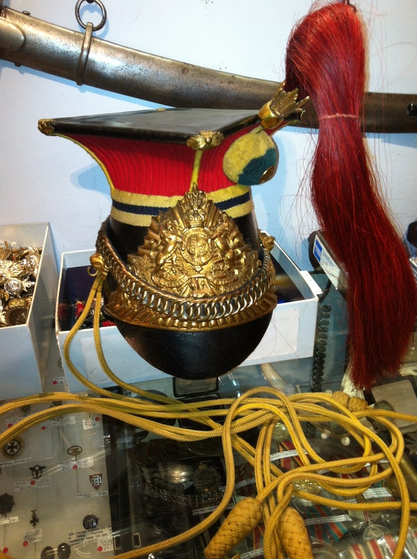Victorian 12th Lancers Officers lance cap - image 1