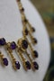 A very fine Amethyst & Seed Pearl Necklace in High Carat yellow gold, Circa 1905 - image 2