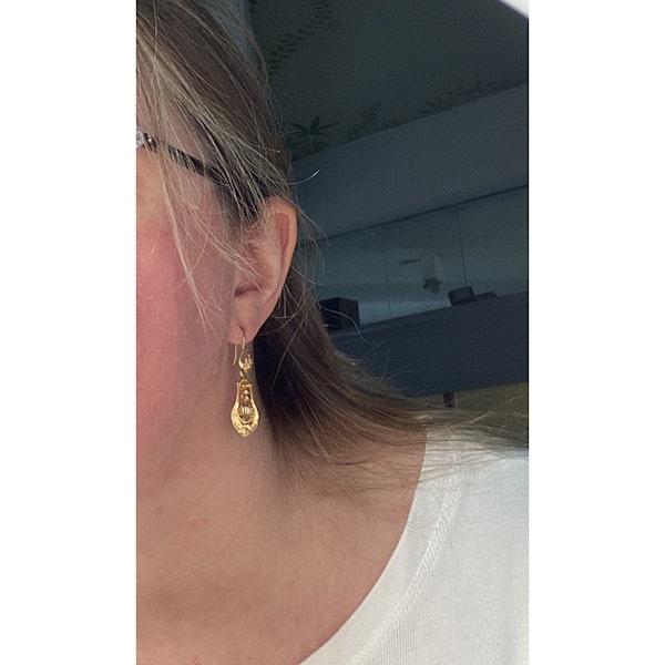 Date: circa 1900, 18ct Yellow Gold Earrings, SHAPIRO & Co since1979 - image 2