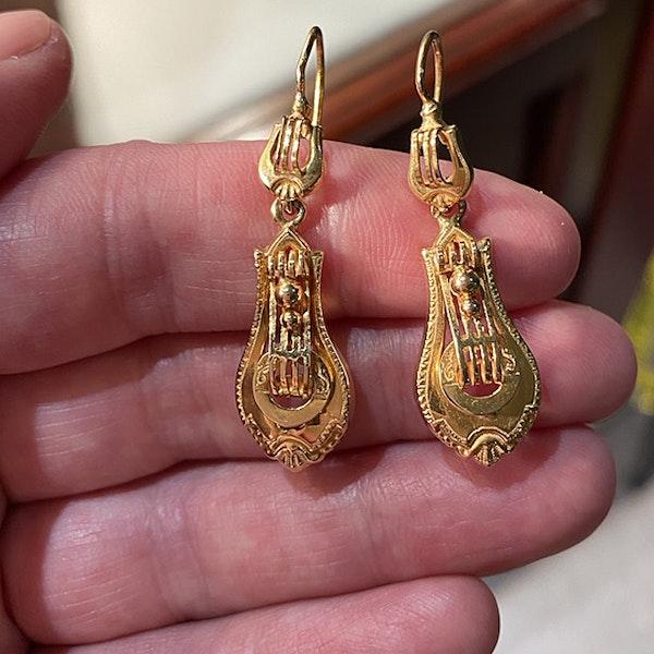 Date: circa 1900, 18ct Yellow Gold Earrings, SHAPIRO & Co since1979 - image 3