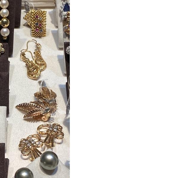 Date: circa 1900, 18ct Yellow Gold Earrings, SHAPIRO & Co since1979 - image 5