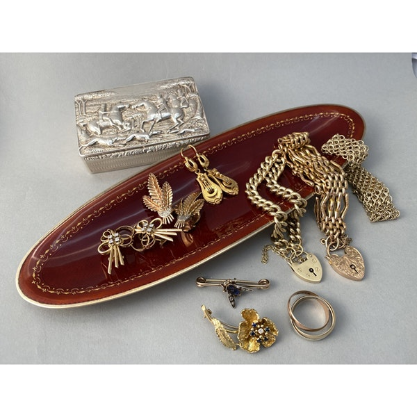 Date: circa 1900, 18ct Yellow Gold Earrings, SHAPIRO & Co since1979 - image 7