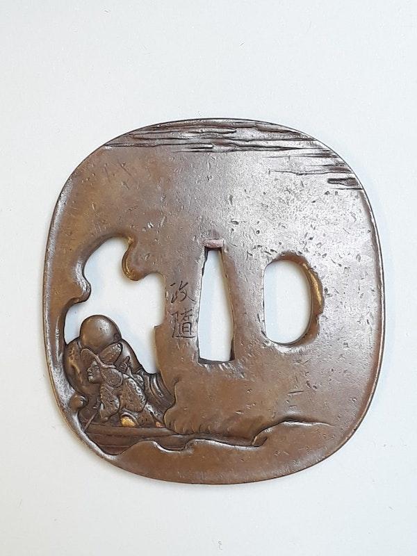 Japanese Meiji Period Bronze Tsuba - image 2