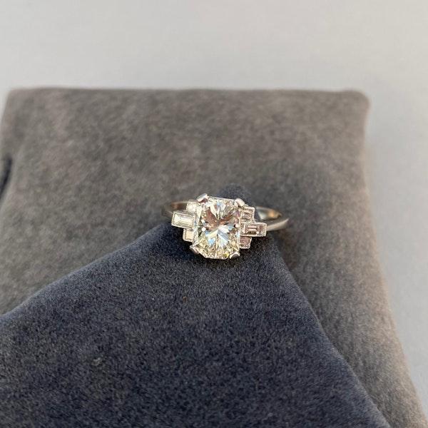 Diamond Ring in Platinum 2ct Diamond SHAPIRO & Co since1979 - image 4
