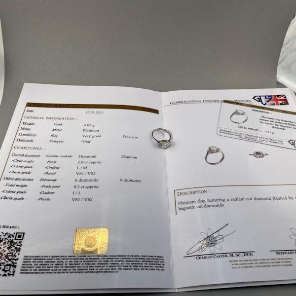 Diamond Ring in Platinum 2ct Diamond SHAPIRO & Co since1979 - image 5