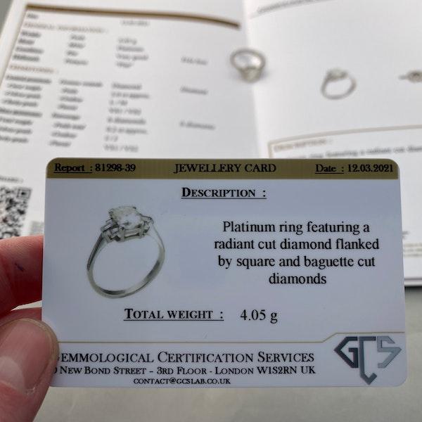 Diamond Ring in Platinum 2ct Diamond SHAPIRO & Co since1979 - image 6