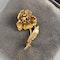 Date: London 1970, 18ct Yellow Gold, Sapphire & Diamond stone set Brooch, SHAPIRO & Co since1979 - image 5