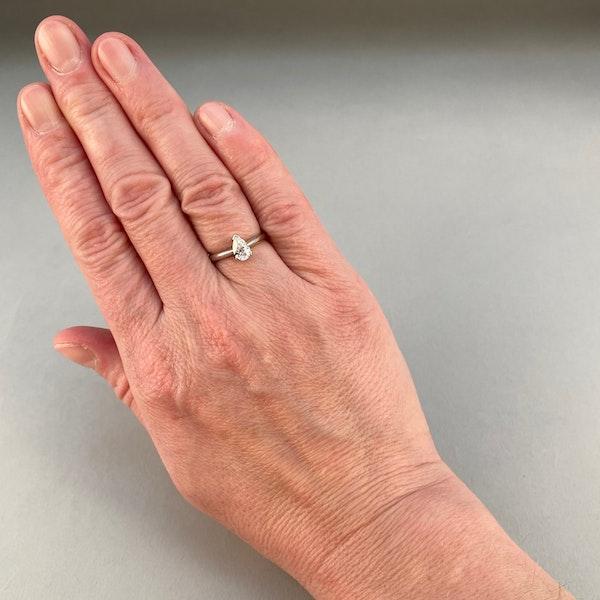 0.60ct Pear Cut Diamond, Platinum  Ring, SHAPIRO & Co since1979 - image 2
