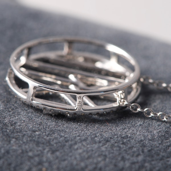 Date: 2010's, 18k White Gold Diamond Pendant by Lilly Shapiro, SHAPIRO & Co since1979 - image 1