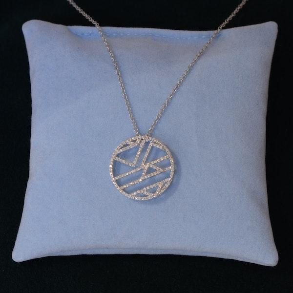 Date: 2010's, 18k White Gold Diamond Pendant by Lilly Shapiro, SHAPIRO & Co since1979 - image 5