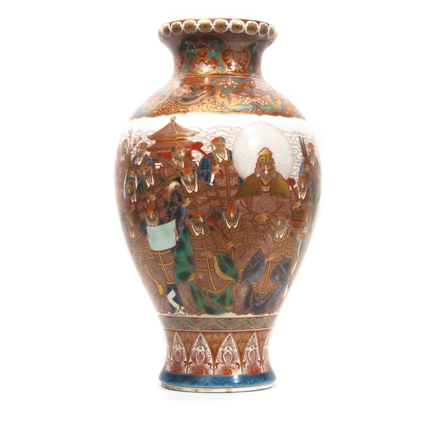 Japanese vase with decoration of scholars - image 2