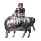 Japanese bronze figure of a sage on a cow - image 6