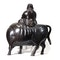 Japanese bronze figure of a sage on a cow - image 7